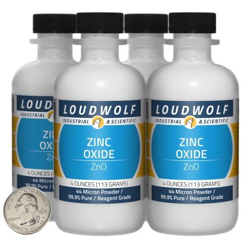 Zinc Oxide - 1 Pound in 4 Bottles