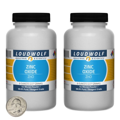 Zinc Oxide - 1 Pound in 2 Bottles