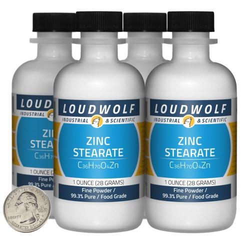 Zinc Stearate - 4 Ounces in 4 Bottles