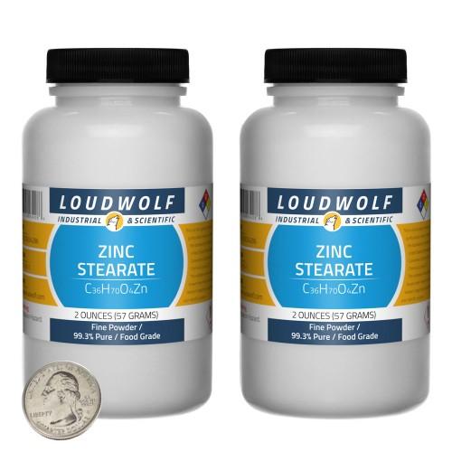 Zinc Stearate - 4 Ounces in 2 Bottles